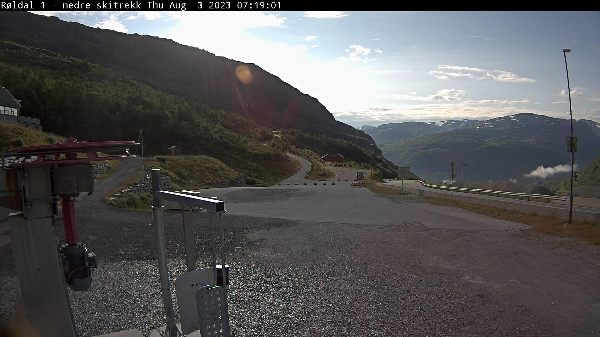 Webkamera Røldal Skisenter parkering