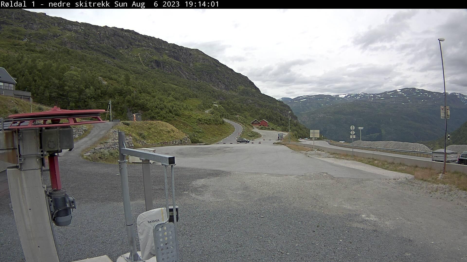 Røldal - ski slope; parking