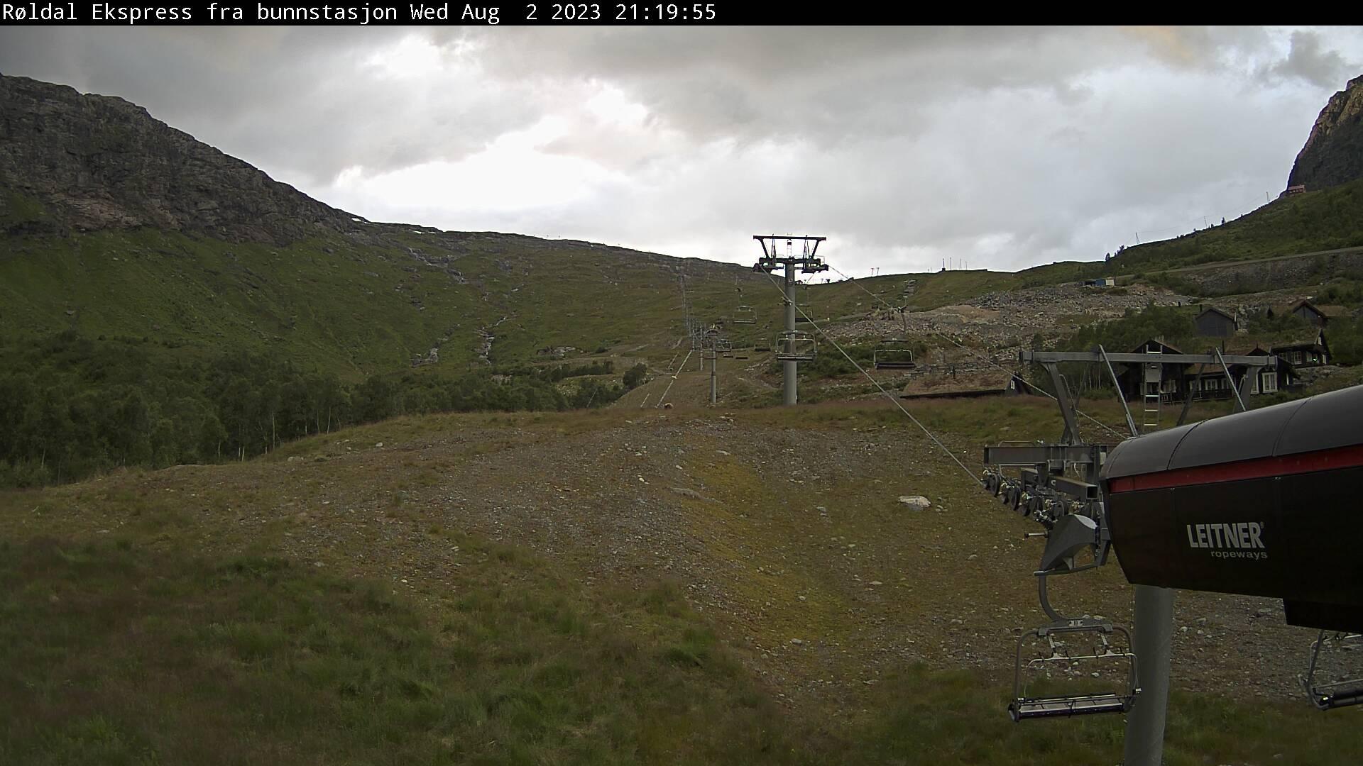Røldal - ski slope; from bottom of Røldal Ekspress lift