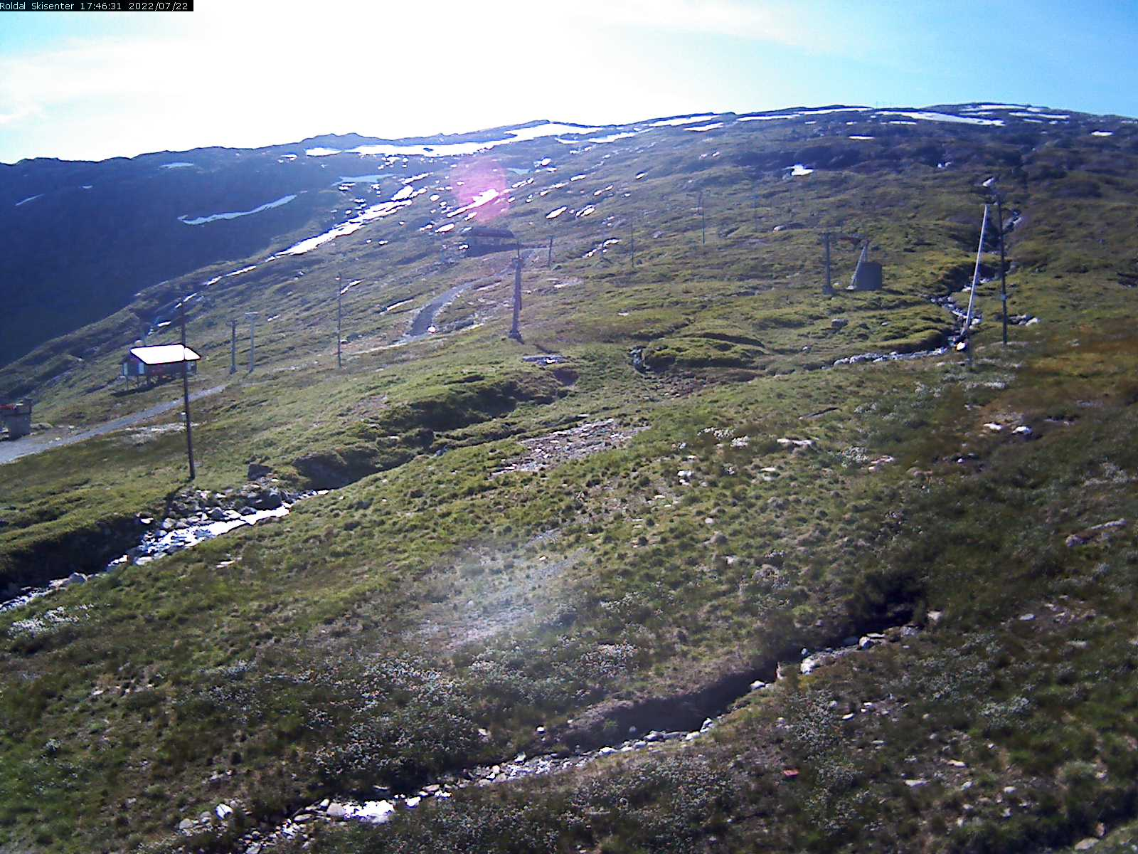 Røldal - ski slope; upper cabin